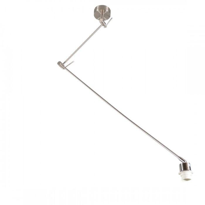 Hängeleuchte-Stahl-ohne-Schirm-verstellbar---Blitz-I