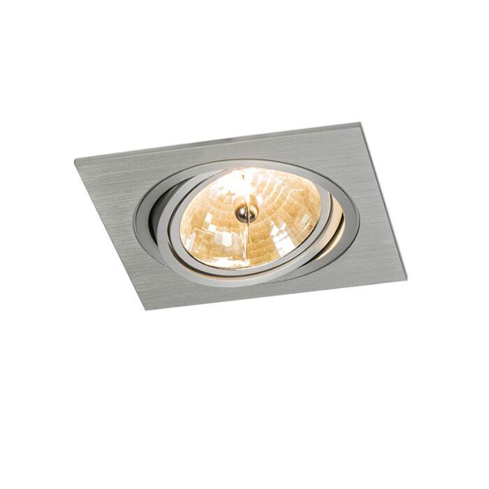 Einbauspot-Impact-square-Aluminium