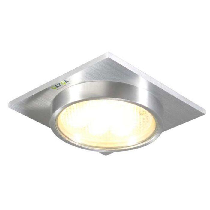 Einbaustrahler-Topaz-Quadrat-Aluminium