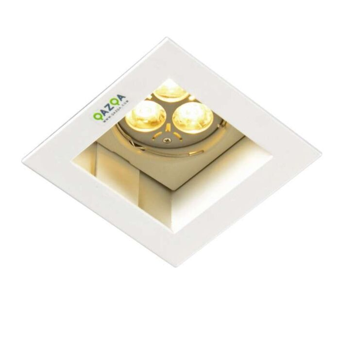 Einbauspot-Diego-II-quadratisch-weiß