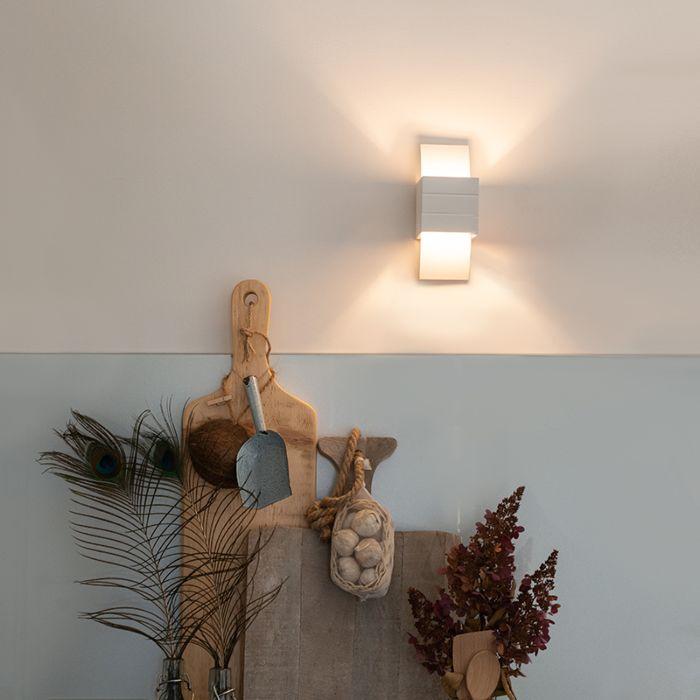 Moderne-Wandlampe-weiß---Amy