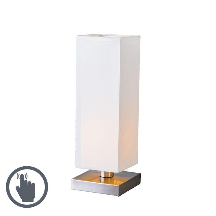 Tischleuchte-Tower-Touch-Stahl-mit-weiß