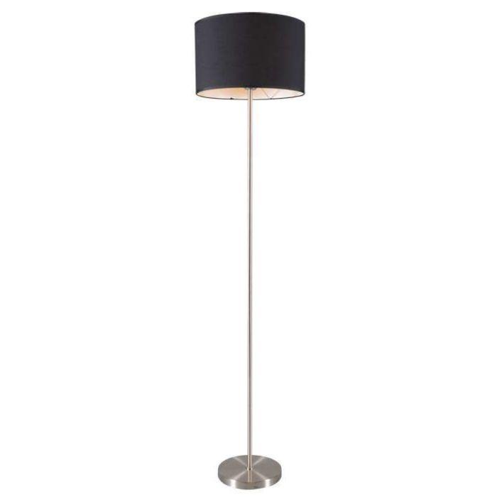 Lugar-Stehlampe-aus-Stahl-mit-schwarzem-Schirm