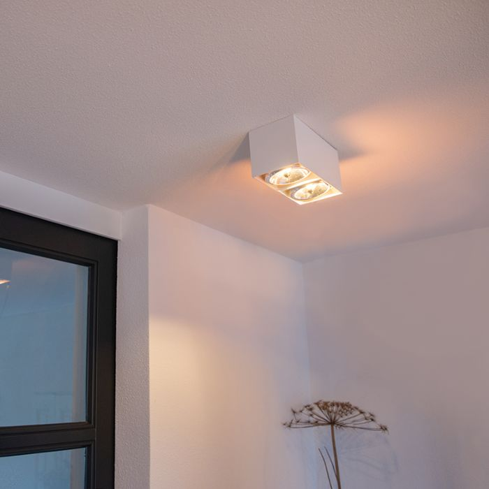 Design-Spot-rechteckig-2-Flammig-weiß---Box