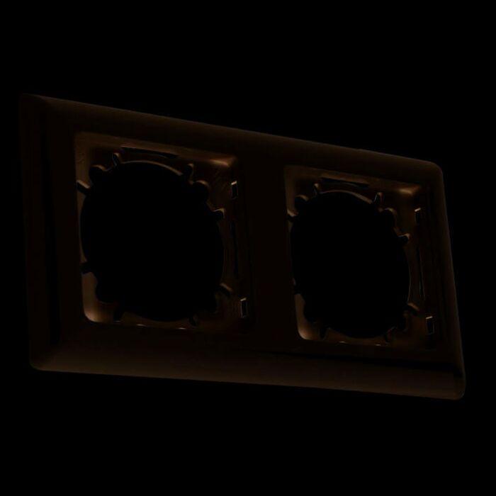 2-fach-Abdeckrahmen-für-Schaltmaterial-Basic-weiß