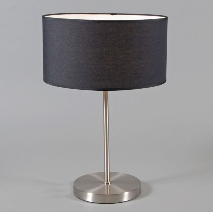 Lugar-Stahltischlampe-mit-schwarzem-Schirm