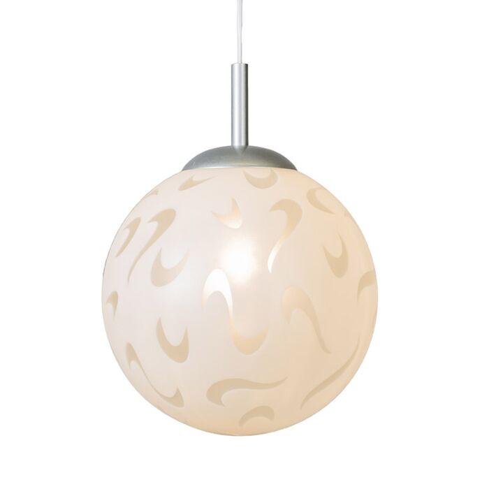 Erde-hängende-Lampe-aus-weißem-Dekorglas