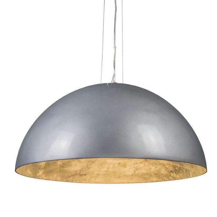 Magna-Glossy-Hängelampe-70cm-Silber-mit-Silber