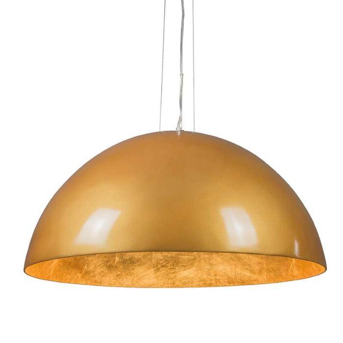 Magna-Glossy-Hängelampe-70cm-Gold-mit-Gold