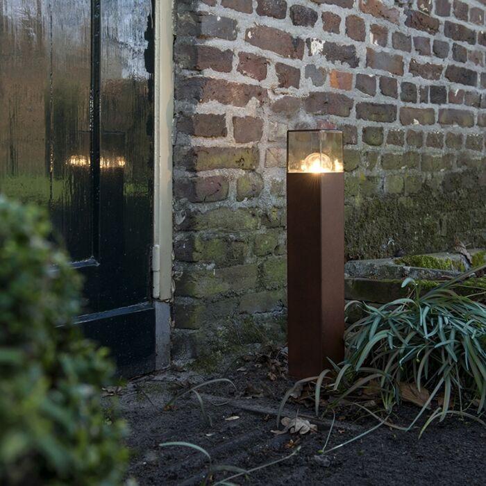 Industrielle-Außenstehleuchte-50-cm-rostbraun-IP44---Dänemark