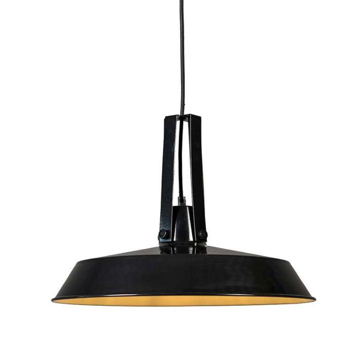 Hängelampe-Living-40cm-schwarz