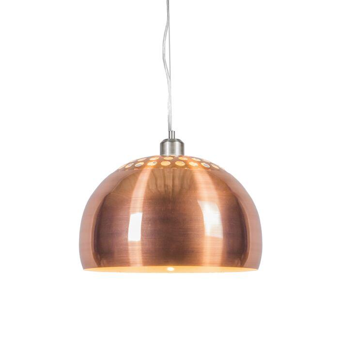 Hängelampe-Globe-33cm-Kupfer-matt