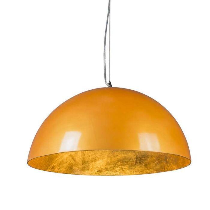 Magna-Glossy-Hängelampe-55cm-Gold-mit-Gold