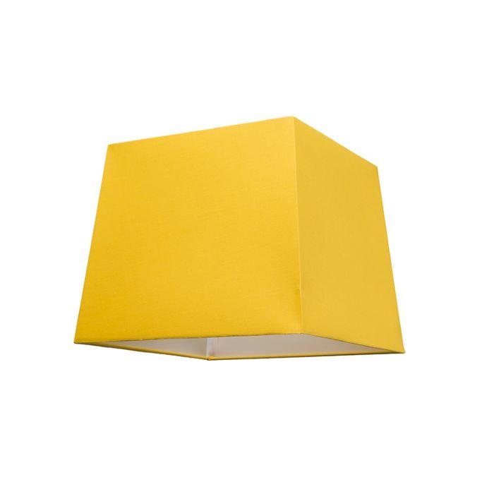 Haube-30-cm-eckig-VE-E27-gelb