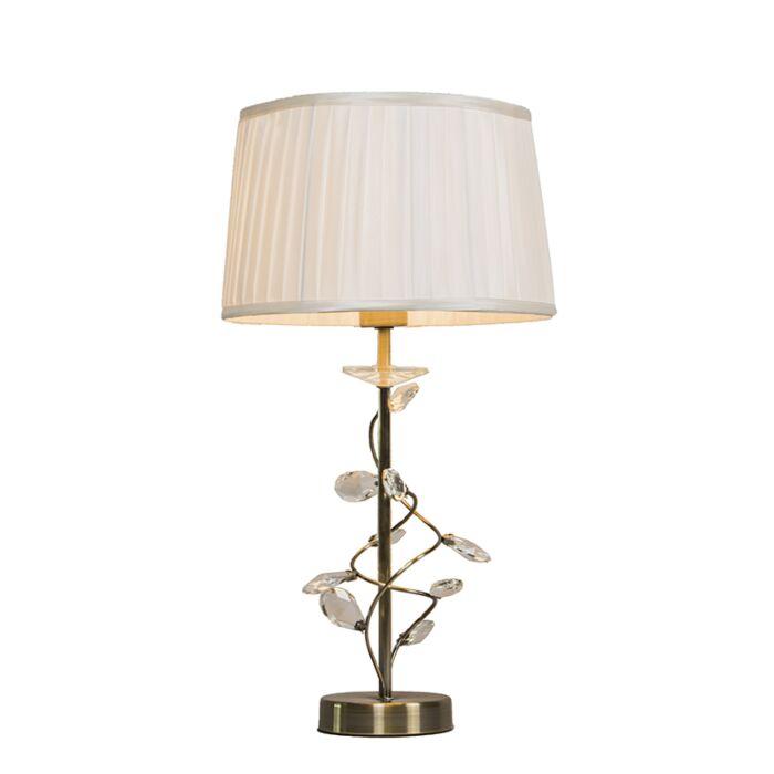Tischlampe-Ruffle-antike-Bronze