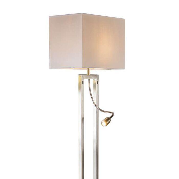 Bergamo-Stehlampe-aus-Stahl-mit-cremeweißem-Schirm