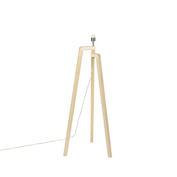 Stehleuchte-Stativholz-ohne-Schirm---Puros