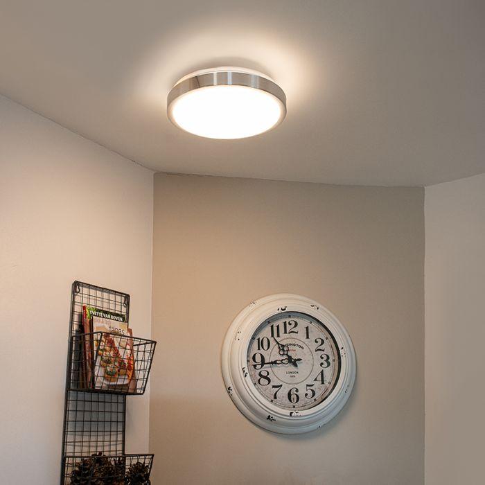 Moderne-Deckenleuchte-Aluminium-28-cm-inkl.-LED-12W---Avant
