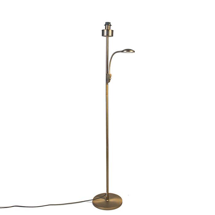 Trento-Kombi-Bronze-Stehleuchte-ohne-Schirm