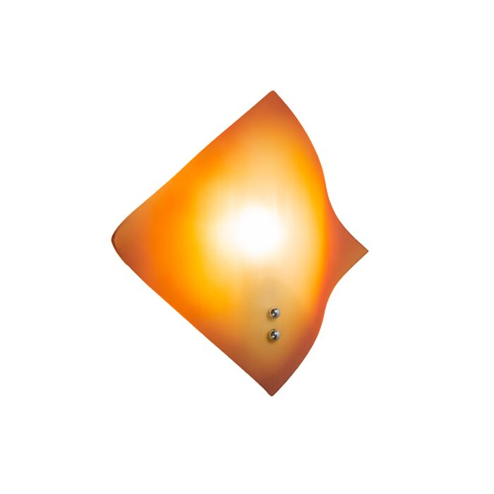 Wandleuchte-Wave-orange