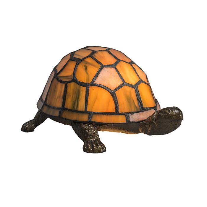 Tischlampe-Tiffany-Turtle-Bernstein