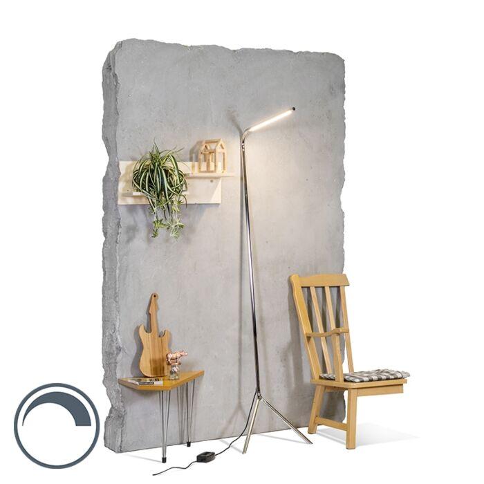 Design-Stehleuchte-chrom-inkl.-LED---Lazy-Lamp