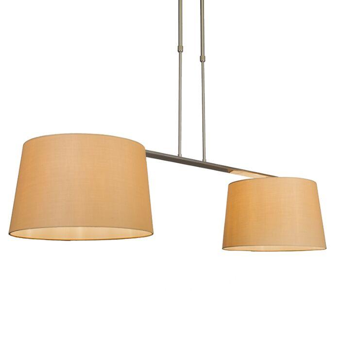 Hängelampe-Combi-Delux-2-Schirm-ca.-40cm-beige