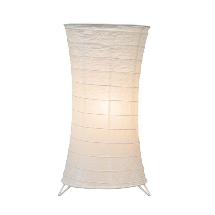 Tischleuchte-Papel-weiß