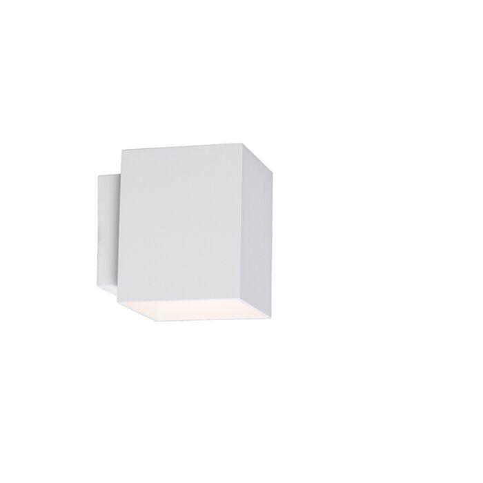 Moderne-Wandleuchte-quadratisch-weiß---Sola