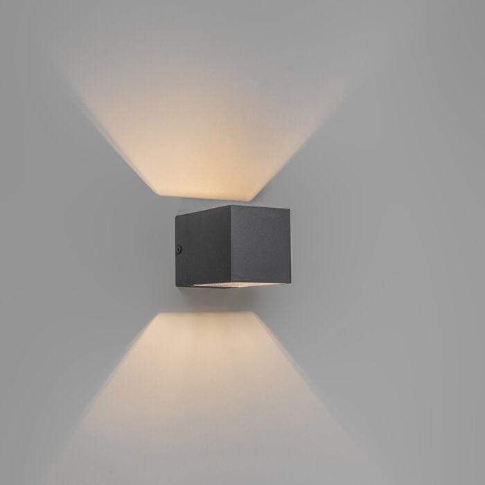 Moderne-Wandleuchte-dunkelgrau---Transfer