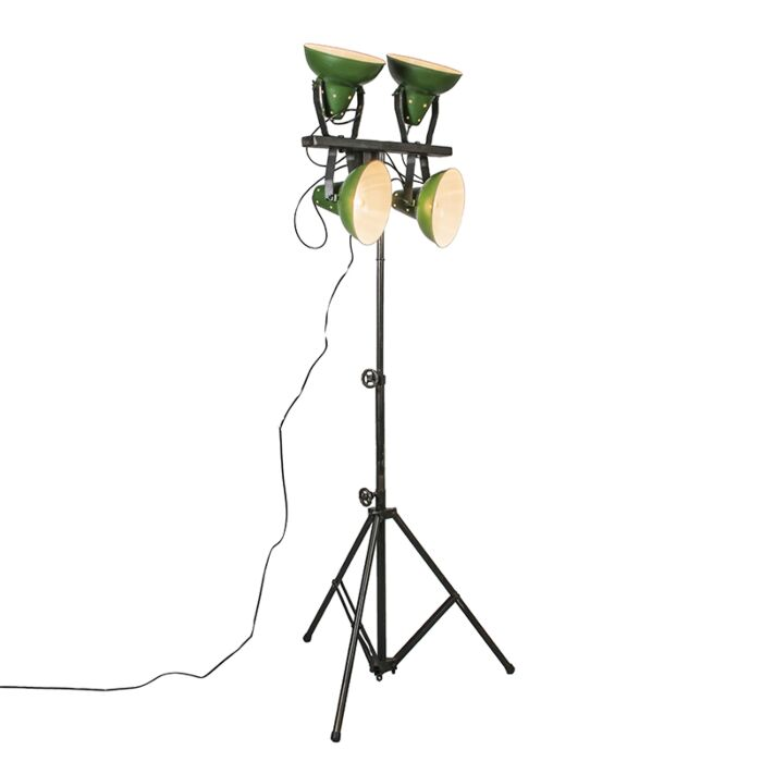 Grüne-Stehlampe-mit-Sockel