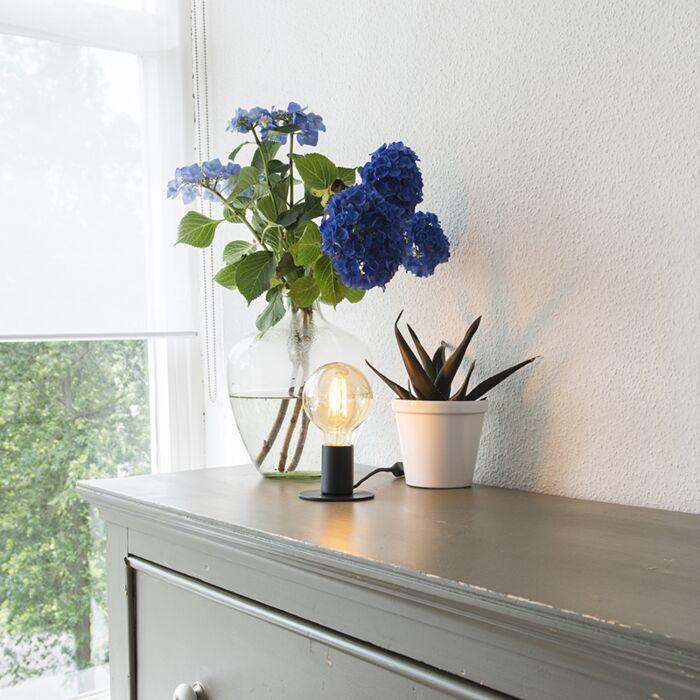 Moderne-Tischlampe-schwarz---Facil