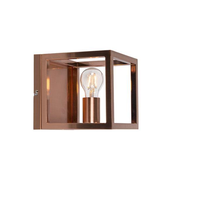 Wandleuchte-Käfig-1-Kupferlampe