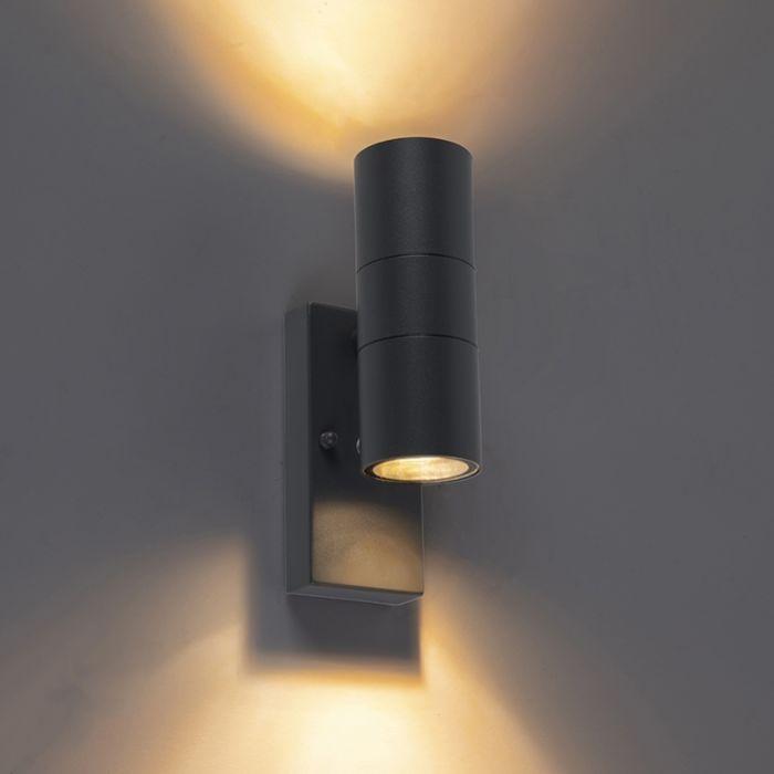 Außenwandleuchte-anthrazit-IP44-mit-Hell-Dunkel-Sensor---Duo