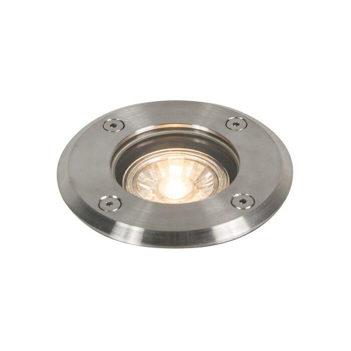 Outdoor-Ground-Spot-Stahl-11cm-IP67---Basic-Round
