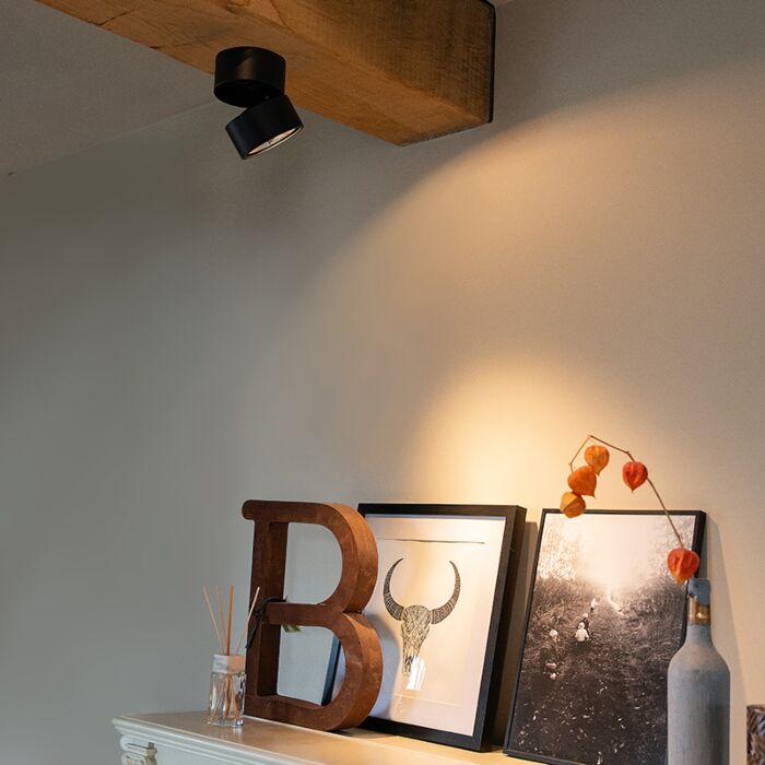 Moderner-Spot-schwarz-verstellbar---Go-Nine-Tubo