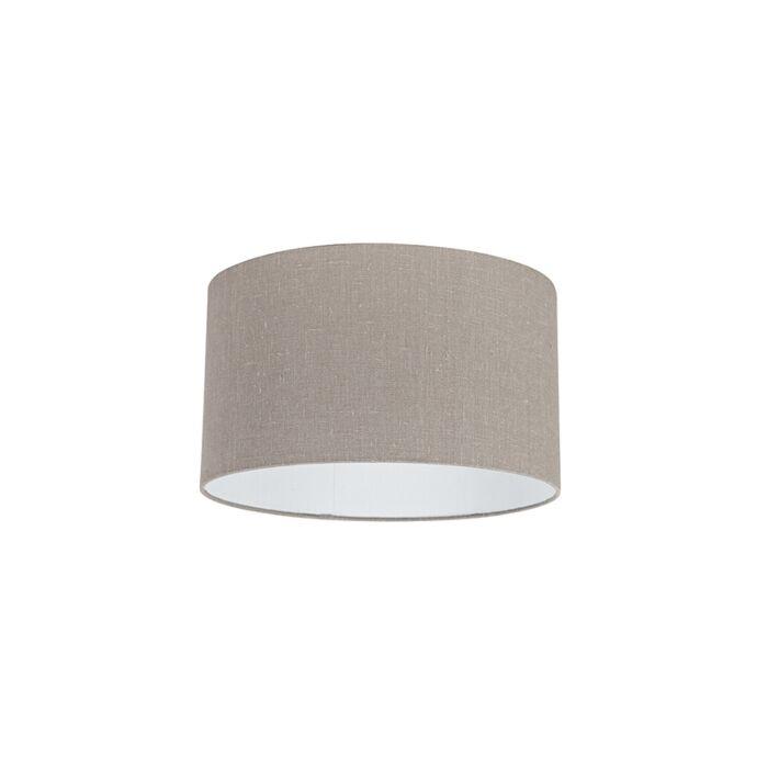 Lampenschirm-aus-Stoff-taupe-35/35/20