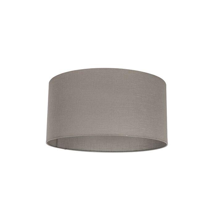 Lampenschirm-aus-Stoff-taupe-50/50/25