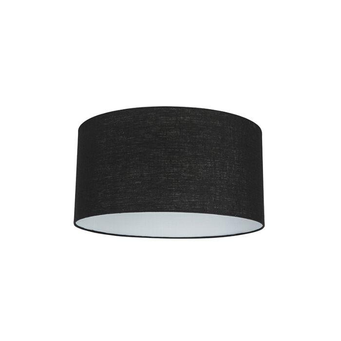 Stofflampenschirm-schwarz-50/50/25