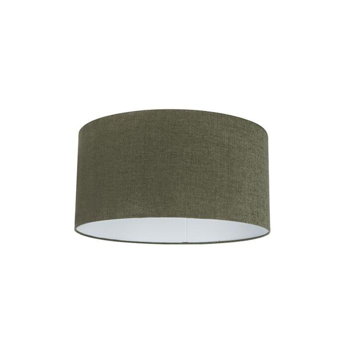 Stoff-Lampenschirm-dunkelgrün-50/50/25