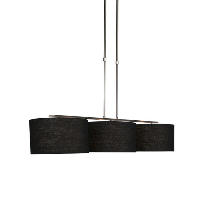 Moderne-Hängelampe-Stahl-mit-Schirm-35-cm-schwarz---Combi-3-Deluxe