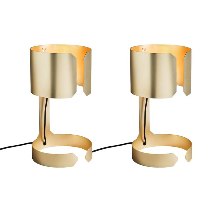 2er-Set-Design-Tischlampen-Matt-Gold---Waltz