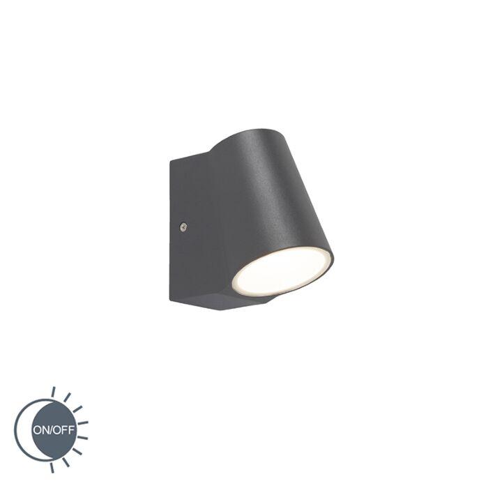 anthrazit lampen mit dämmerungsmelder