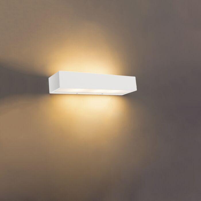 Design längliche Wandleuchte weiß 35 cm Houx