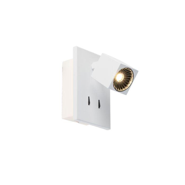 Moderne-Wandleuchte-weiß-inkl.-LED---Cupra