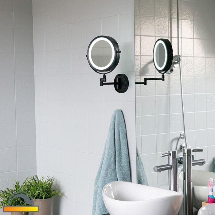 Design-Badezimmerspiegel-schwarz-inkl.-LED-verstellbar-IP44---Vicino