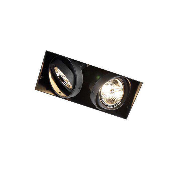 Einbaupunkt-schwarz-drehbar-und-kippbar-trimmlos-2-Licht---Oneon-2