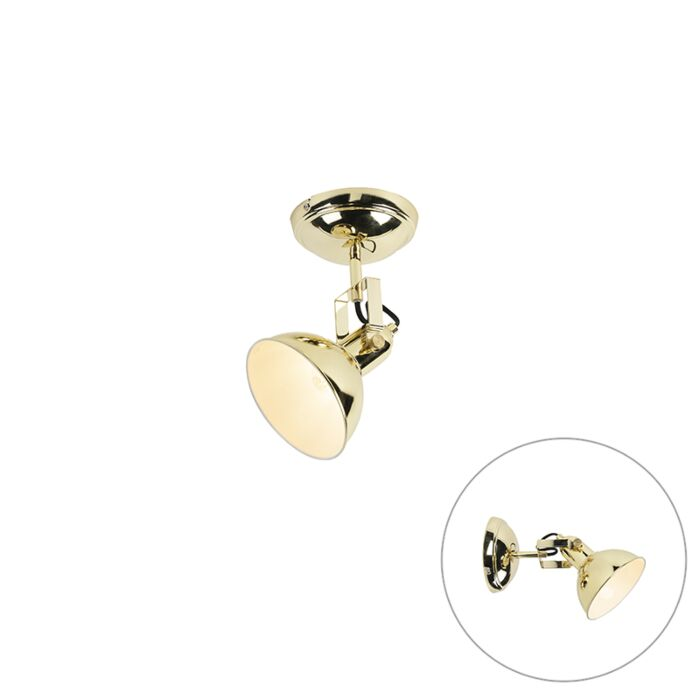 Industrieller-runder-Spot-gold-1-light---Tommy