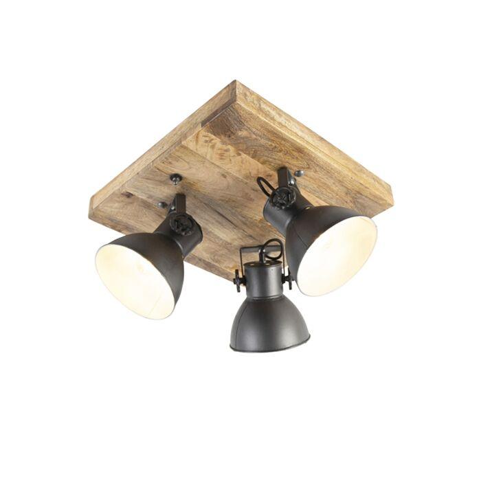 Industriestrahler-schwarz-mit-Mangoholz-3-Lichter---Mangos