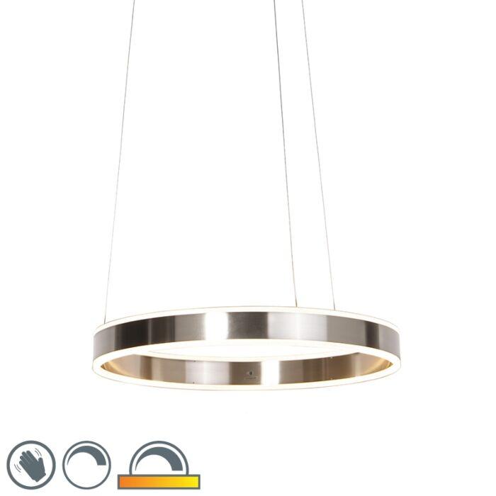 Moderne-Hängelampe-Stahl-inkl.-LED-60-cm-dunkel-bis-warm---Ollie